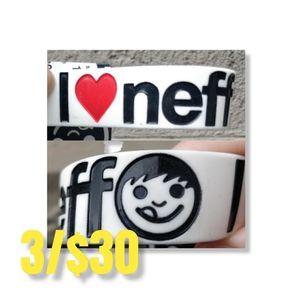 NWT NEFF I love neff rubber wristband